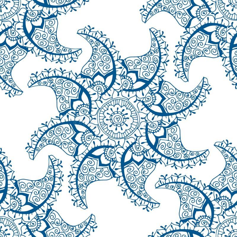 Modelo azul inconsútil libre illustration