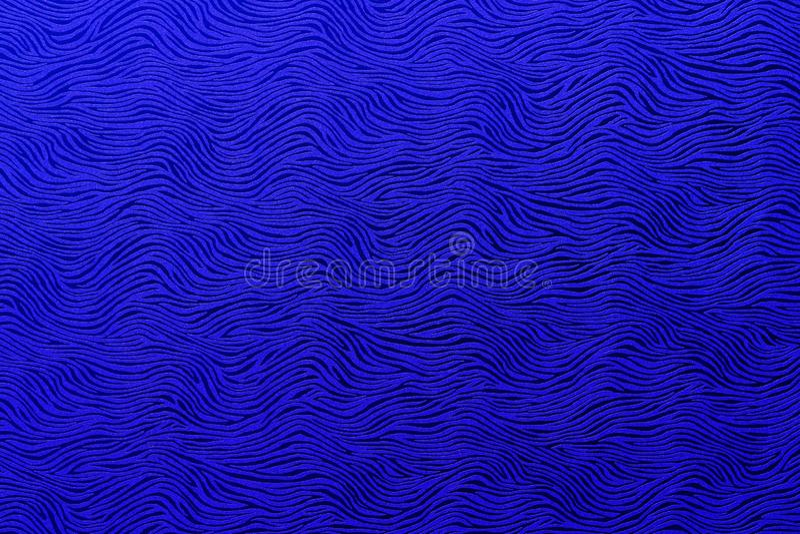 Modelo azul real ondulado del extracto imagen de archivo