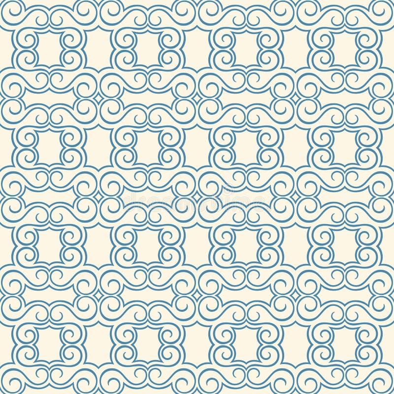 Modelo azul y beige del vintage stock de ilustración