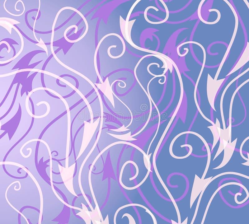 Modelo blanco azul decorativo ilustración del vector