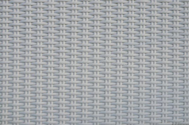 Modelo blanco de la línea plástica tejida textura foto de archivo libre de regalías