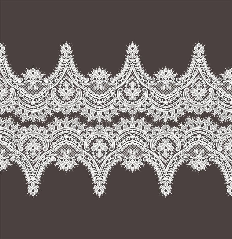 Modelo blanco del vector del cordón Cinta horizontal Frontera stock de ilustración