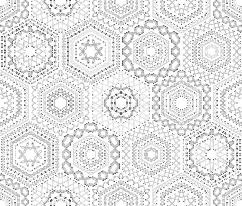Modelo blanco inconsútil del bordado ilustración del vector