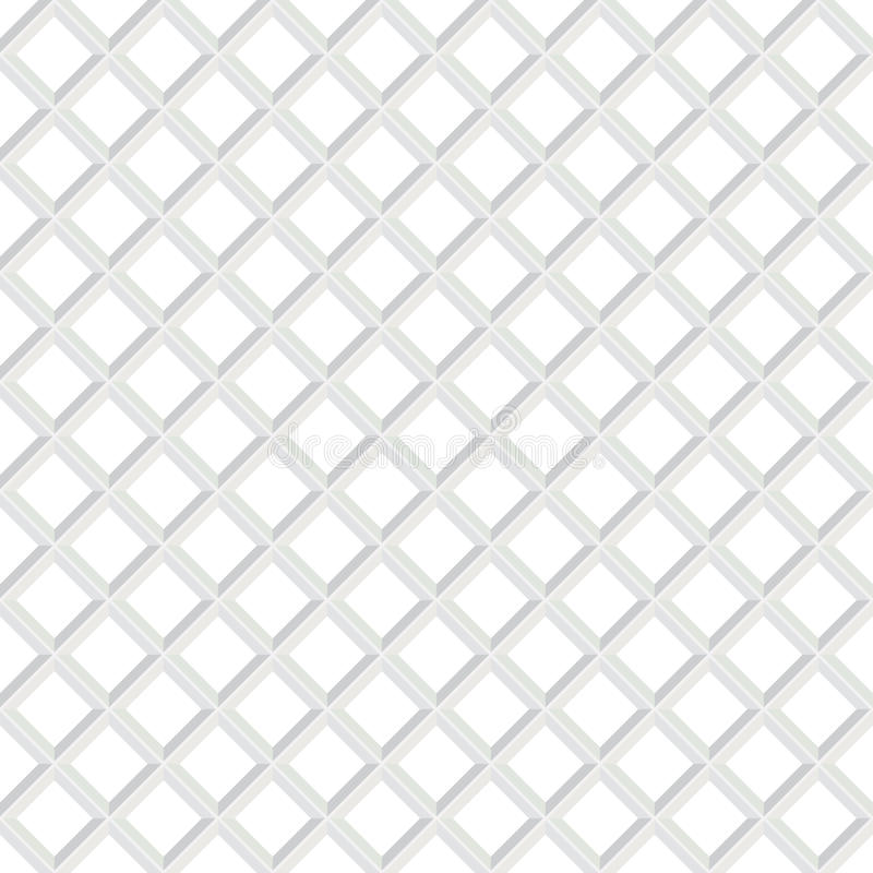Modelo blanco inconsútil geométrico de Abstarct Textura Checkered ilustración del vector