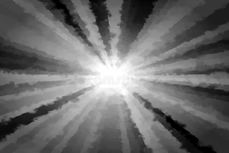 Modelo blanco negro abstracto del fractal stock de ilustración