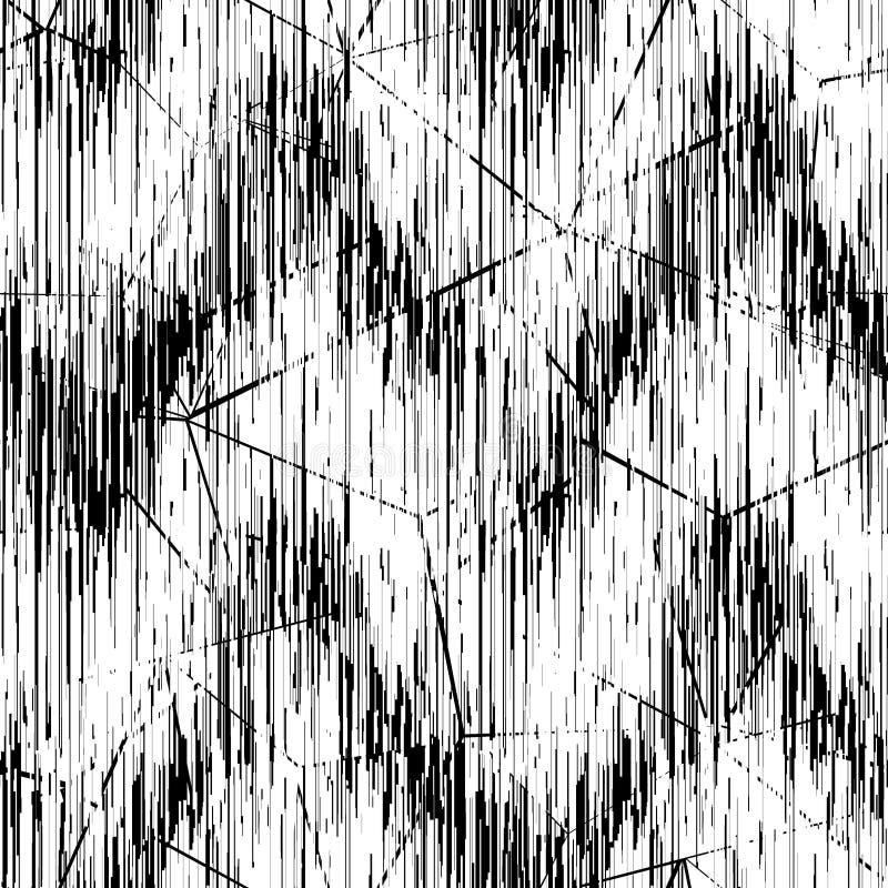 Modelo blanco negro inconsútil Líneas negras finas en un fondo blanco ilustración del vector