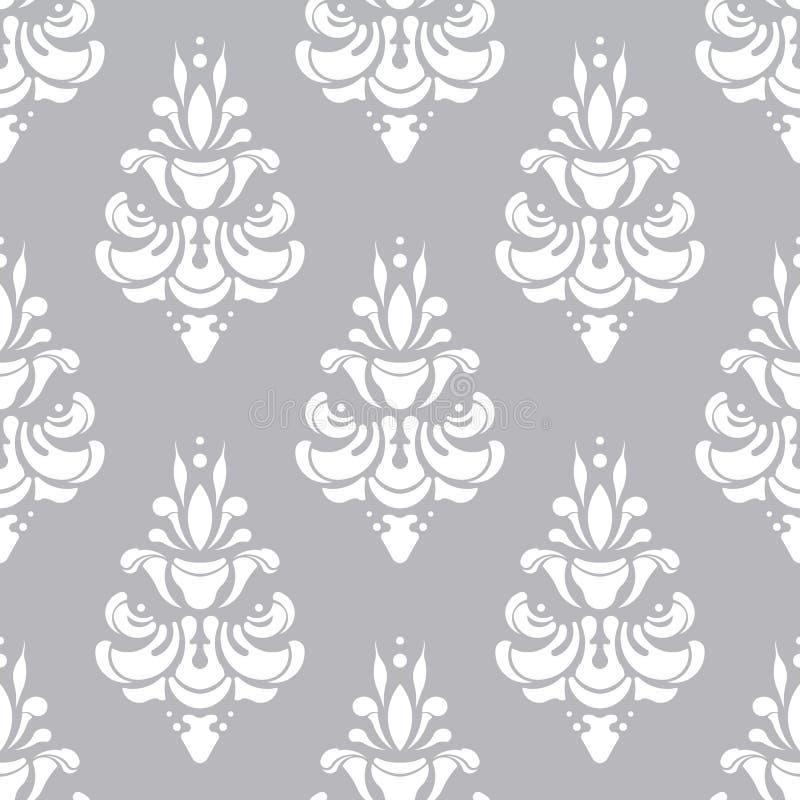 Modelo blanco y gris del vector Wallpaper el fondo para las invitaciones, tarjetas de felicitación, página web inconsútil imágenes de archivo libres de regalías