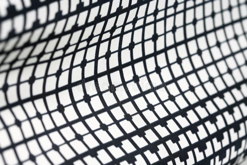 Modelo blanco y negro de la materia textil geométrica retra fotografía de archivo