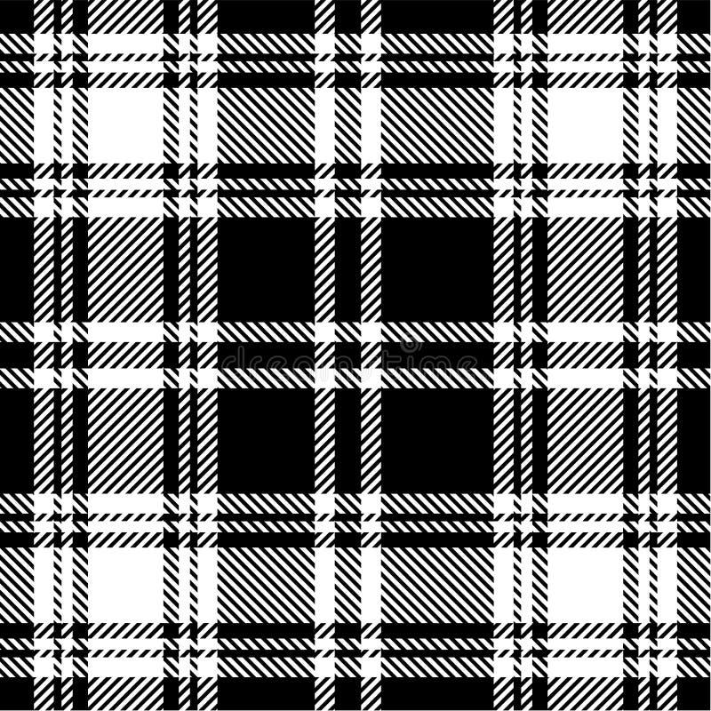 Modelo blanco y negro de la tela escocesa libre illustration