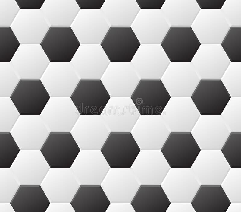 Modelo blanco y negro del fútbol inconsútil Fondo del deporte del vector stock de ilustración