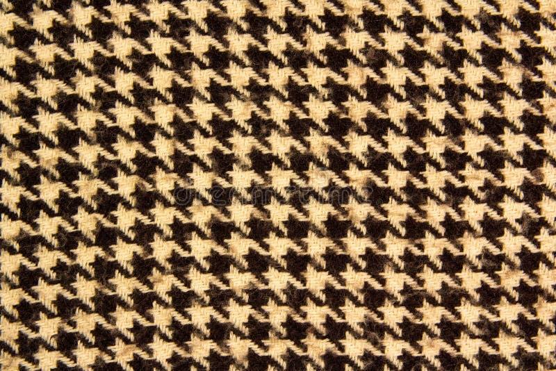 Modelo blanco y negro del houndstooth Dise?o del control de Dogstooth como fondo fotografía de archivo libre de regalías