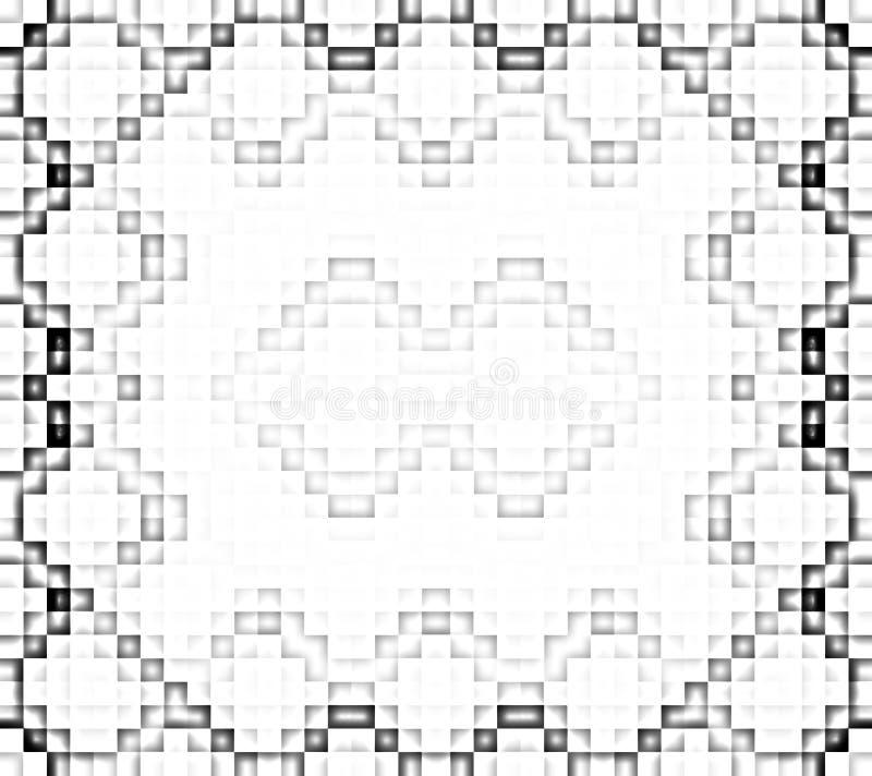 Modelo blanco y negro del pixel stock de ilustración