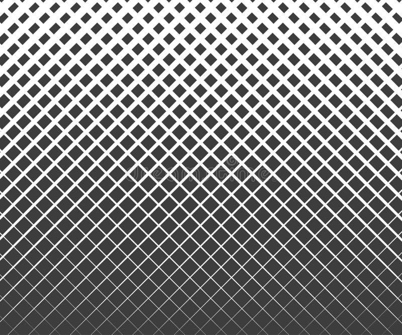 Modelo blanco y negro geométrico abstracto del tono medio del cuadrado del diseño gráfico Modelo del tono medio de la impresión stock de ilustración