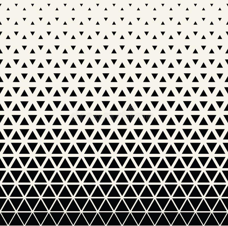Modelo blanco y negro geométrico abstracto del tono medio del triángulo del diseño gráfico stock de ilustración
