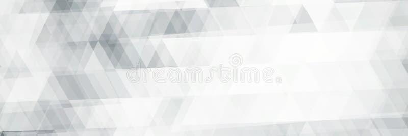 Modelo blanco y negro horizontal de la bandera con los triángulos stock de ilustración
