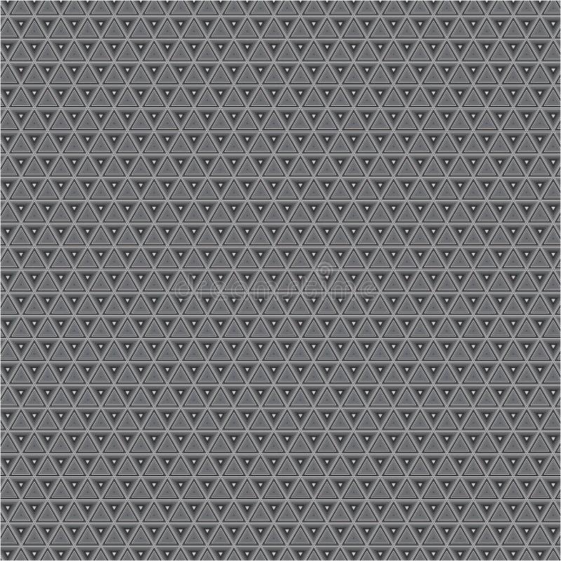 Modelo blanco y negro retro de la textura del fondo del vector de la tela del triángulo del extracto stock de ilustración