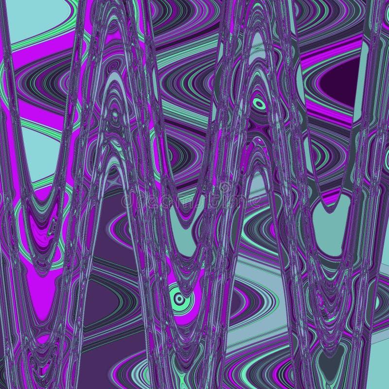 Modelo blured moderno azul y violeta, fondo de la acuarela para la impresión de la materia textil y papel pintado stock de ilustración