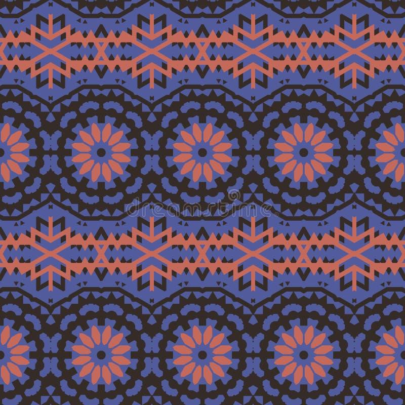 Modelo bohemio colorido étnico del vector libre illustration