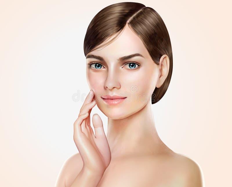 Modelo bonito da mulher ilustração do vetor