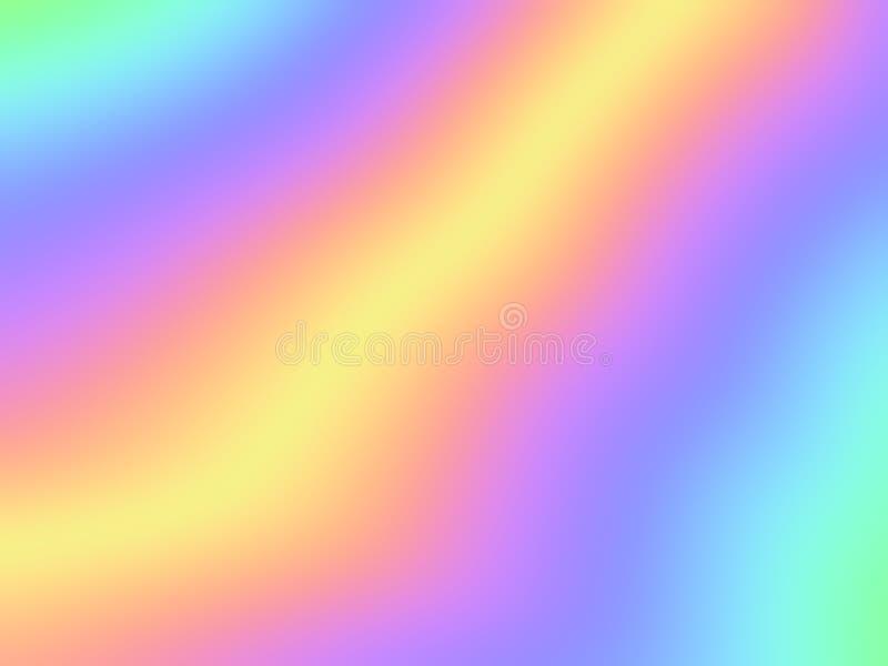 Modelo borroso de la hoja del fondo de la pendiente olográfica del arco iris libre illustration