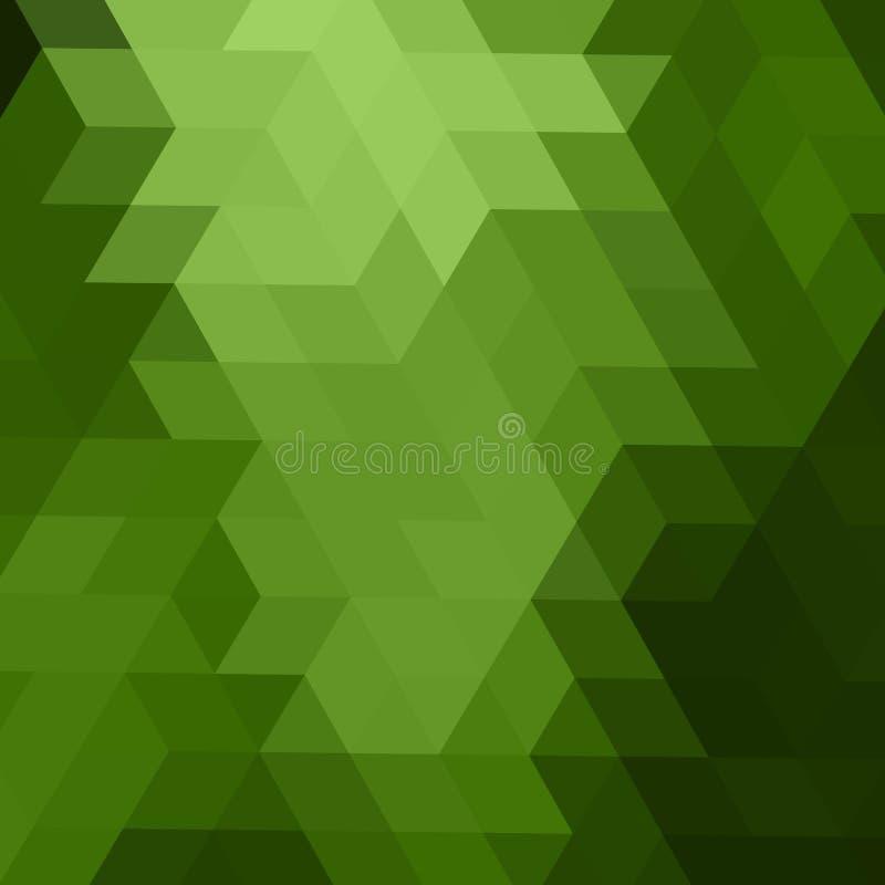 Modelo borroso del hex?gono del vector verde claro Ejemplo creativo en el estilo de semitono con pendiente Estilo a estrenar para stock de ilustración