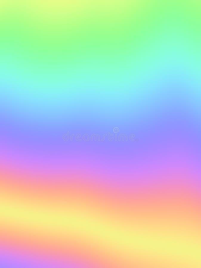 Modelo borroso pendiente olográfica del arco iris del fondo de la hoja stock de ilustración