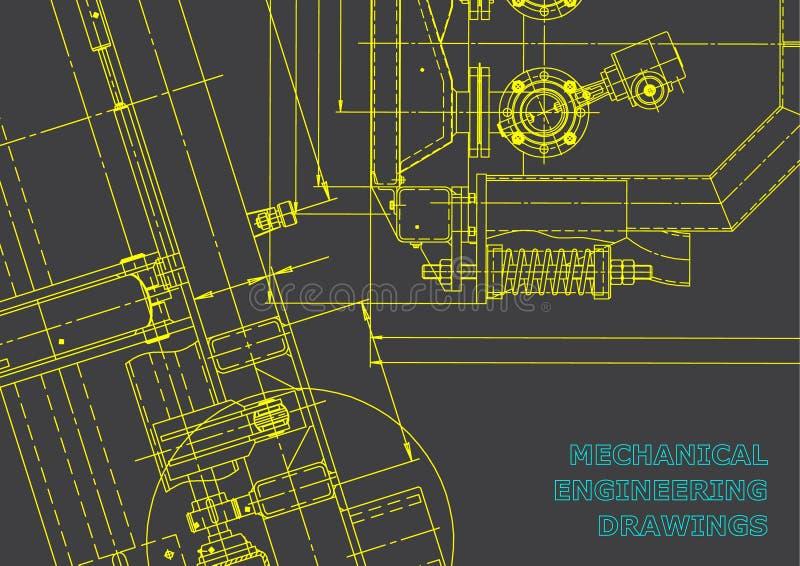 Modelo, bosquejo Ejemplo de la ingeniería del vector ilustración del vector