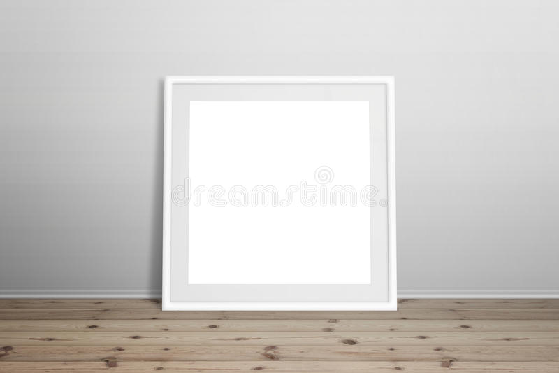Modelo branco da moldura para retrato imagens de stock