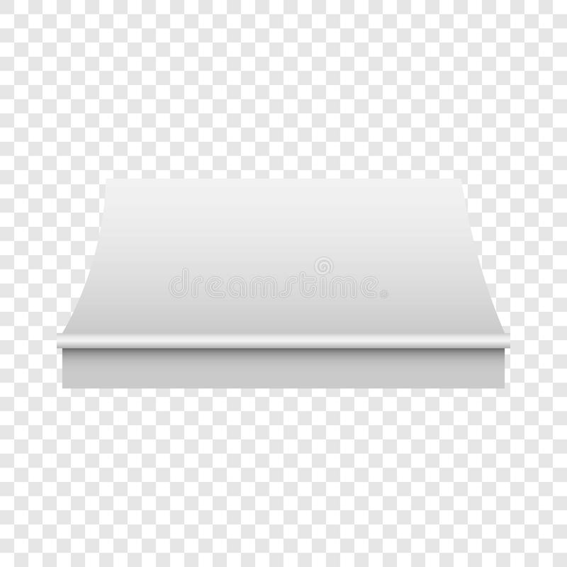 Modelo branco do toldo, estilo realístico ilustração stock