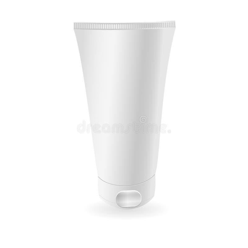Modelo branco do tubo ou ge Apronte para seu projeto Embalagem do produto Vetor eps10 ilustração royalty free