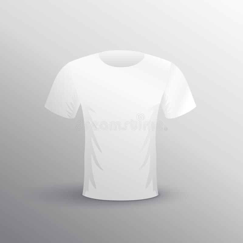 Modelo branco vazio da t-merda para anunciar ilustração royalty free