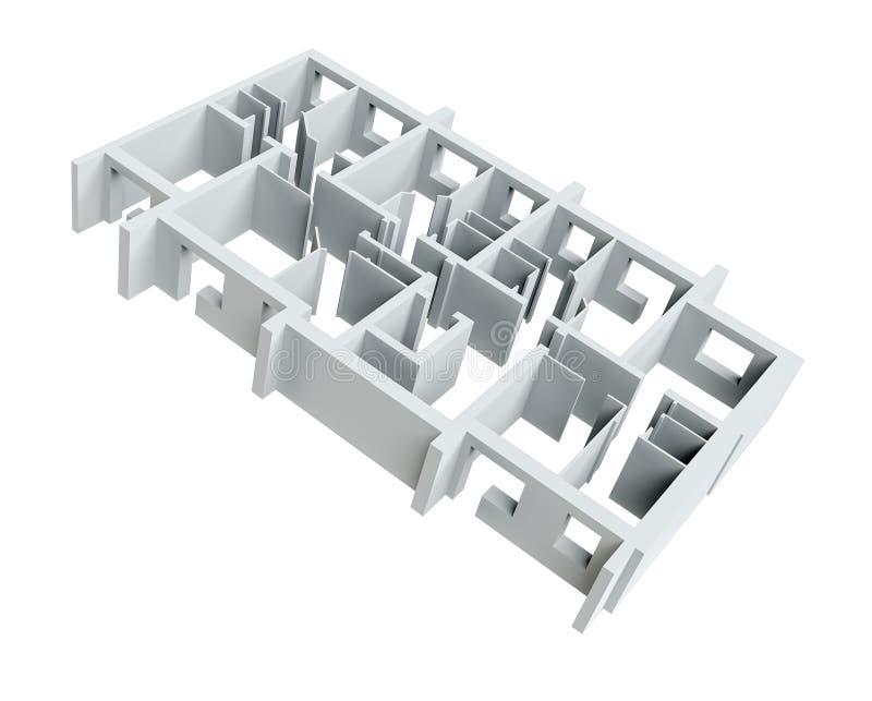 Modelo branco vazio do assoalho ilustração do vetor