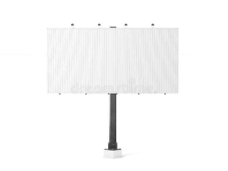 Modelo branco vazio do quadro de avisos do trivision, rendição 3d ilustração royalty free