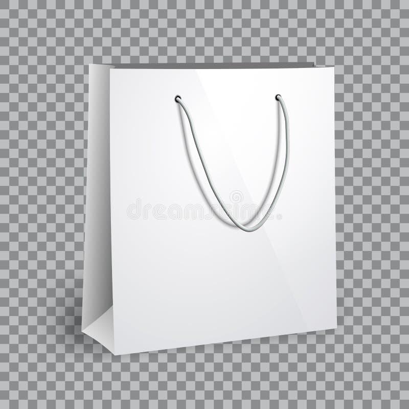 Modelo branco vazio do saco de compras ilustração royalty free