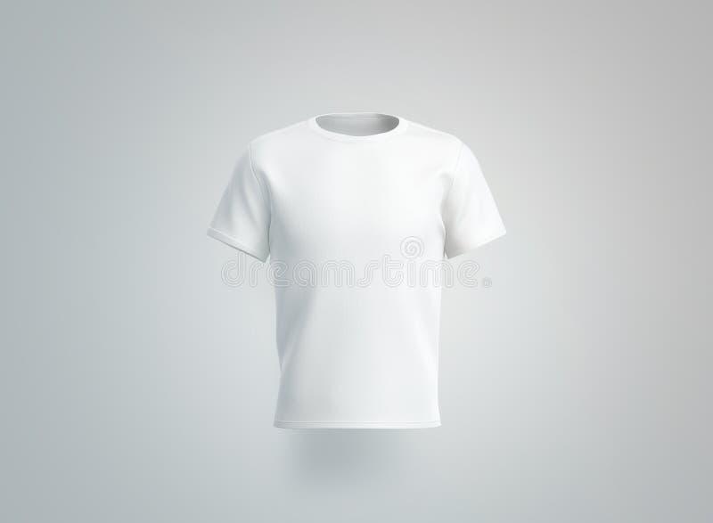 Modelo branco vazio do t-shirt Vista isolada, dianteira ilustração stock