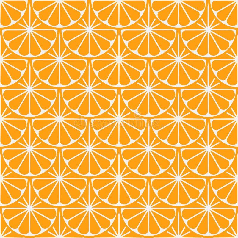 Modelo brillante incons?til del vector del arte de la fruta anaranjada fotografía de archivo libre de regalías