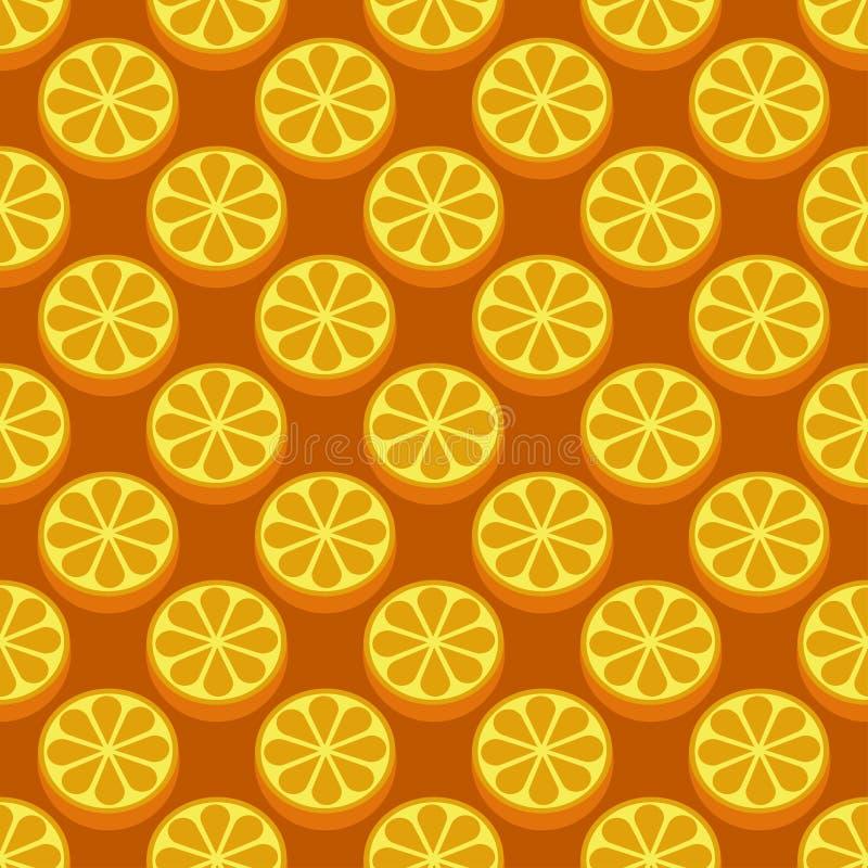 Modelo brillante incons?til del vector del arte de la fruta anaranjada imagen de archivo