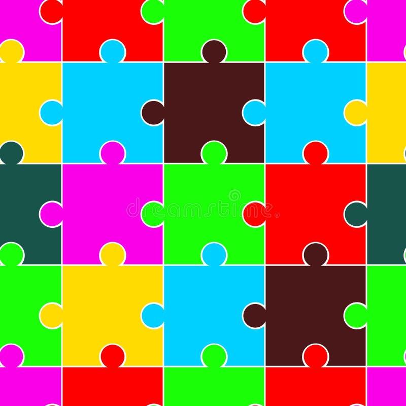 Modelo brillantemente coloreado inconsútil eps10 del rompecabezas del vector libre illustration