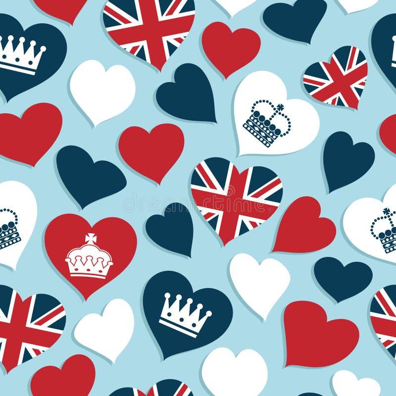 Modelo británico de los corazones ilustración del vector