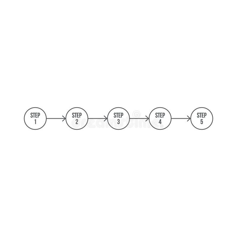Modelo Business Infográfico com números 5 opções ou etapas. Ilustração vetorial isolada sobre fundo branco ilustração do vetor