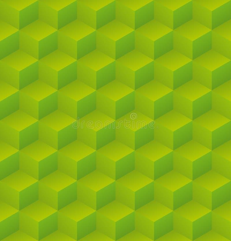 Modelo cúbico del verde geométrico del extracto libre illustration