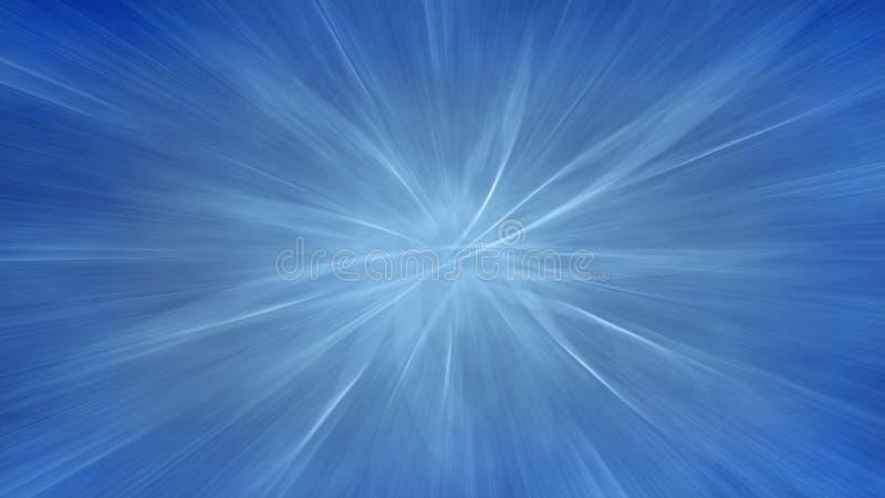Modelo caótico azul Falta de definición de movimiento stock de ilustración