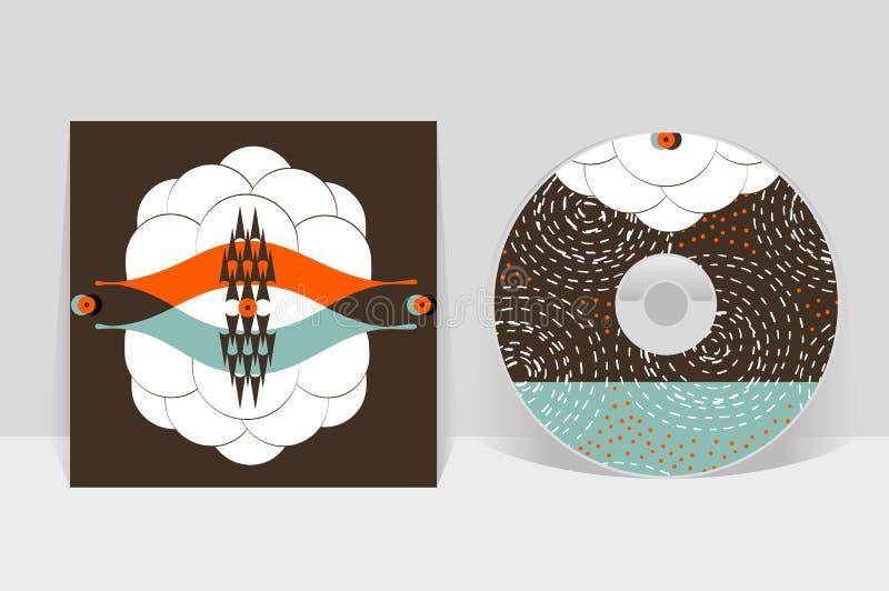 Modelo CD del diseño de la cubierta Gráficos lineares abstractos del modelo libre illustration
