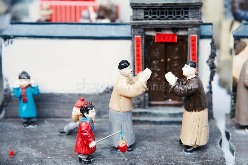 Modelo chinês fotos de stock royalty free