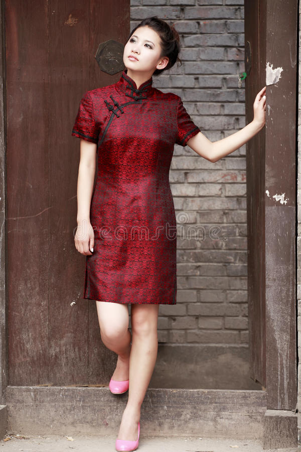 Modelo chinês do cheongsam imagem de stock