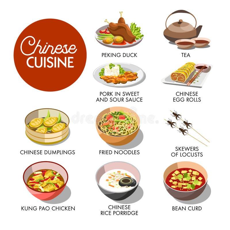 Modelo chinês do menu da culinária ilustração do vetor