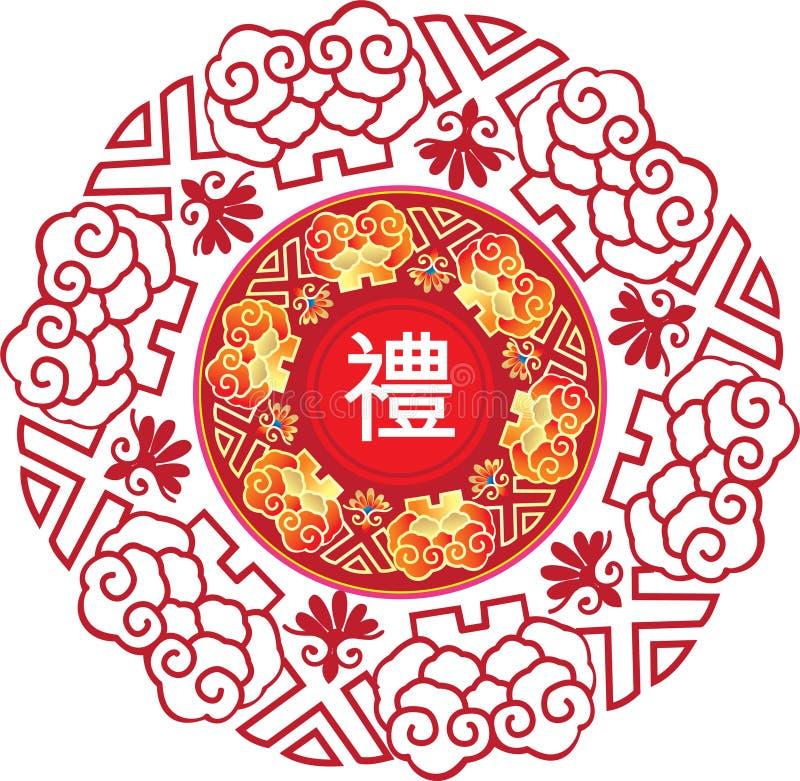 Modelo chino stock de ilustración