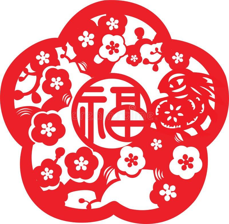 Modelo chino del Año Nuevo stock de ilustración