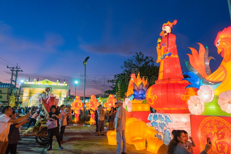 Modelo chino del Año Nuevo del décimo octavo día de año nuevo de Phuket y o chinos imágenes de archivo libres de regalías