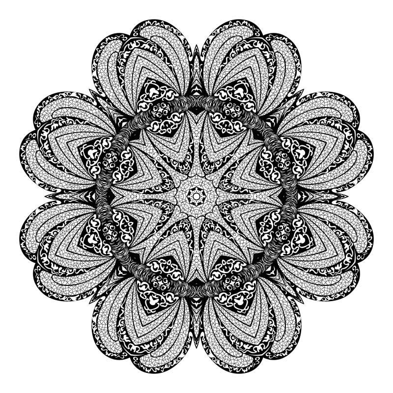 Modelo circular abstracto del vector de arabesques stock de ilustración